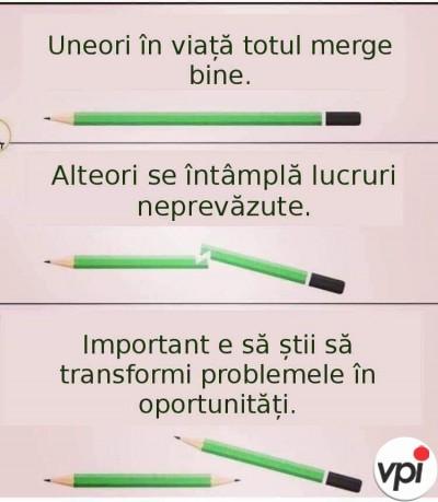 Transformă problemele în oportunități