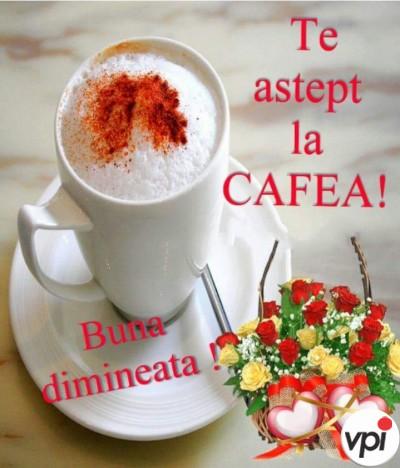 Te aștept la cafea!