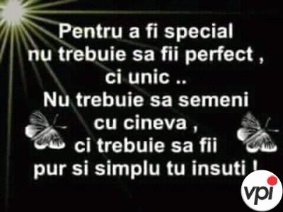 Pentru a fi special