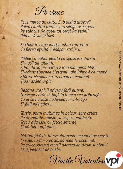 Pe cruce - Vasile Voiculescu