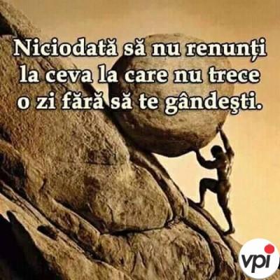 Niciodată să nu renunți