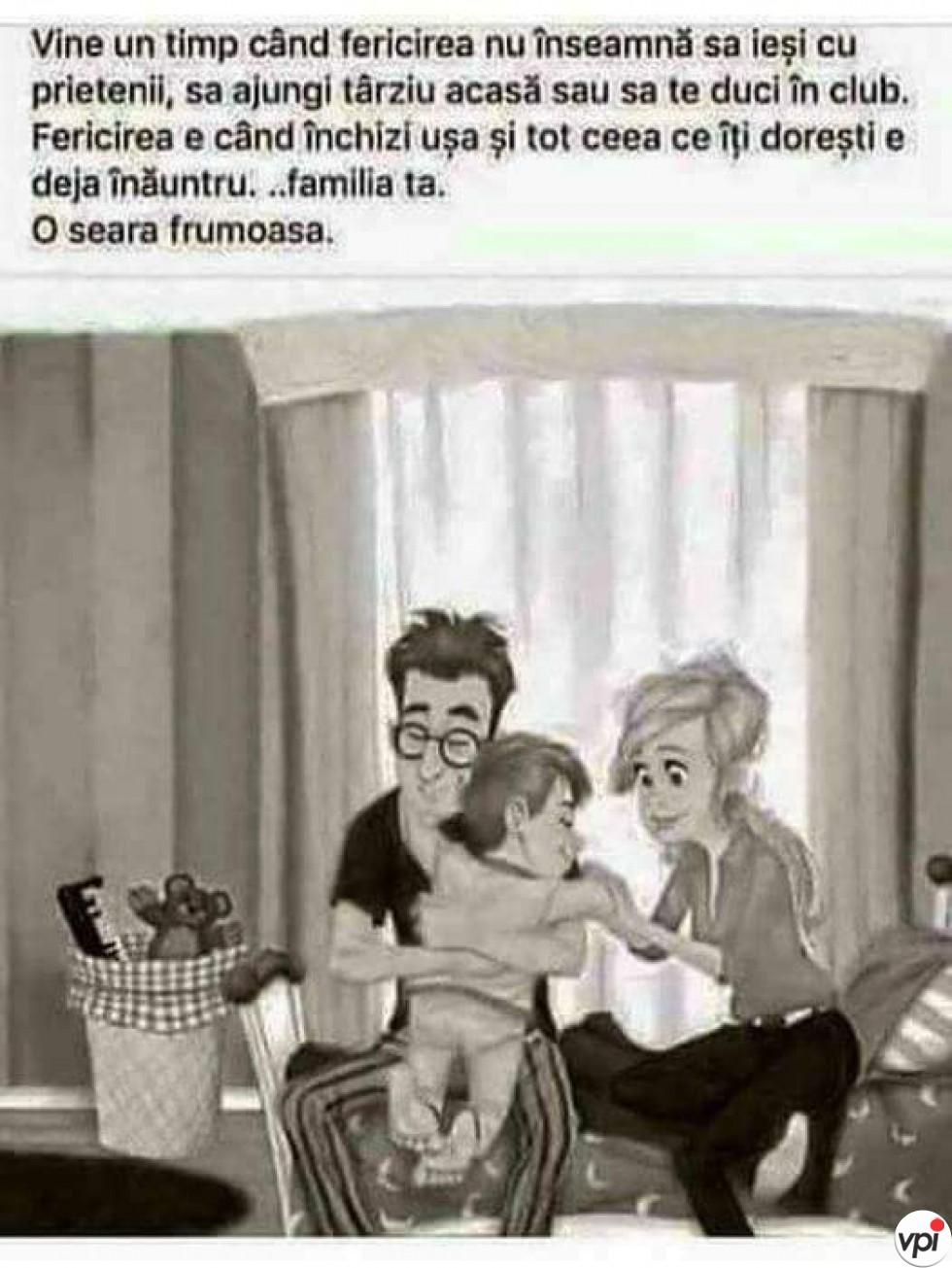 Familia îți aduce fericire