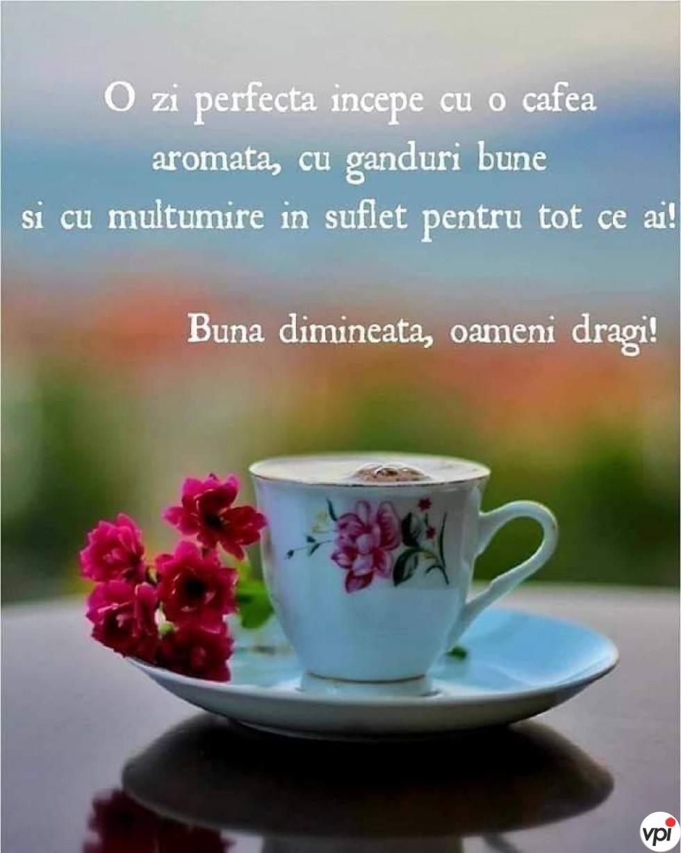 O zi perfectă începe cu o cafea!