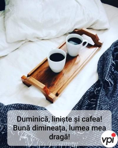 Duminică, liniște și cafea!