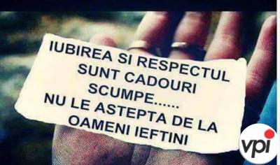 Iubirea și respectul