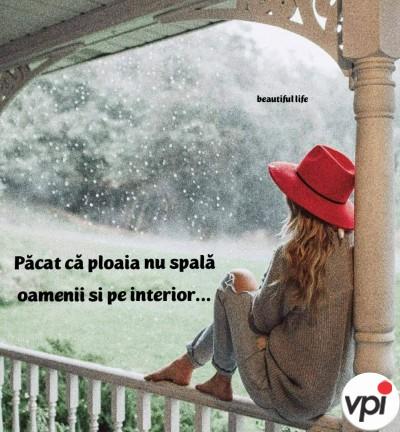 Păcat că ploaia nu spală oamenii și pe interior