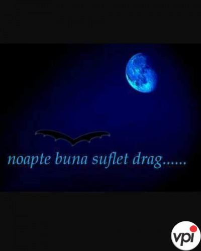 Noapte bună suflet drag!