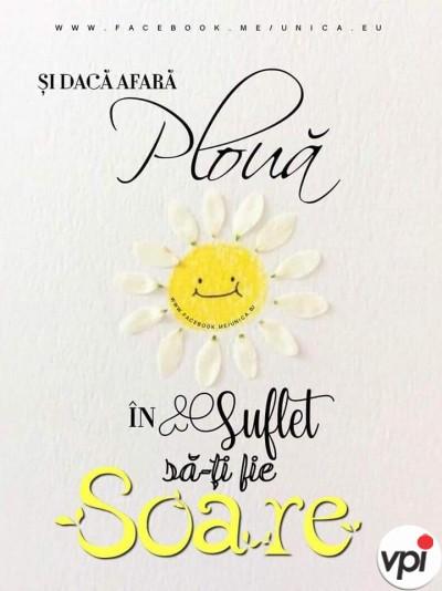 In suflet să-ți fie soare