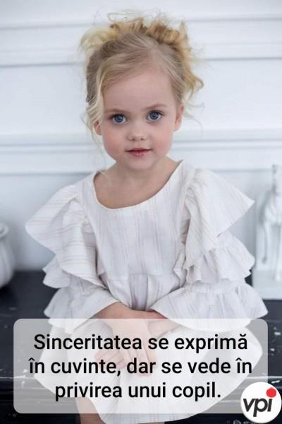 Sinceritatea se vede în privirea unui copil