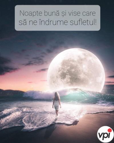 Noapte bună și vise care să ne îndrume sufletul.