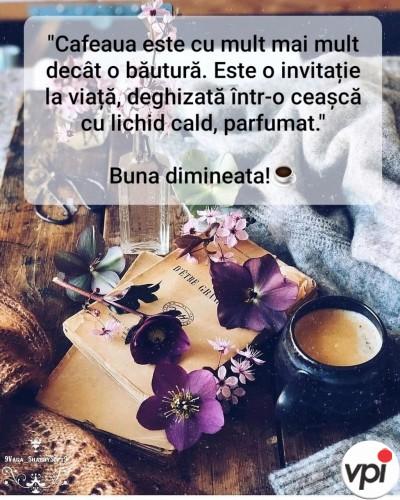 Cafeaua este o invitație la viață