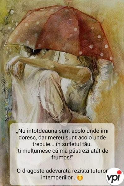 O dragoste adevărată rezistă tuturor intemperiilor