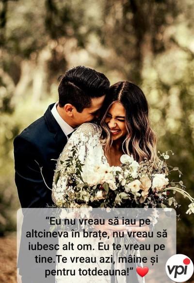 Te vreau pentru totdeauna