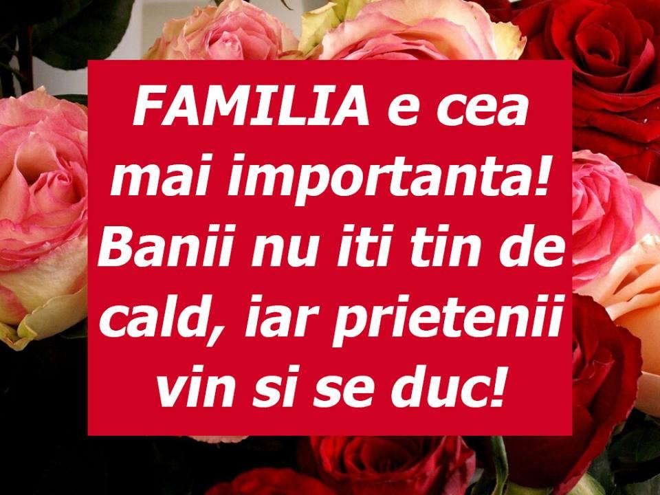 Familia e cea mai importanta!