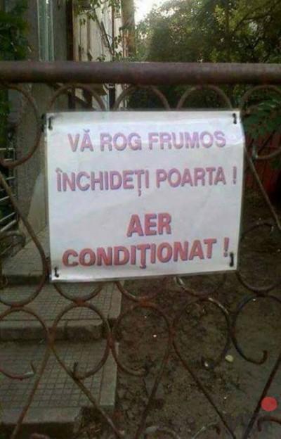 Aer conditionat!
