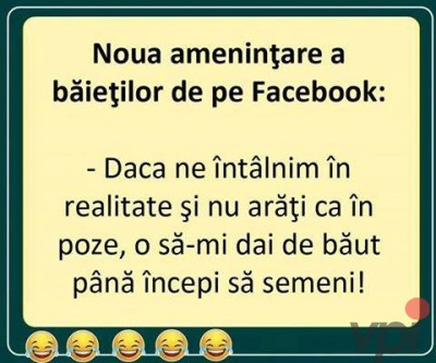 Amenintare pe Facebook