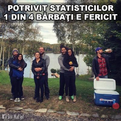 Statistici barbati fericiti